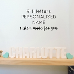 PERSONALISED NAME ORNAMENT - custom made resin name decoration - 9-11 letters