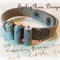 Funky Brown Leather Bracelet with Handcrafted Ceramic Tube Beads