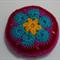 Crocheted African Flower Pin Cushion
