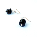 Black Onyx Gemstone and Sterling Silver Earrings