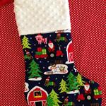 Personalised Christmas Stocking - Farm Santa