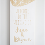 Geo Welcome to the Wedding Wooden Sign