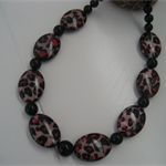 Hot Pink & Black Necklace