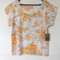 Ladies Summer Top, Upcycled Fabric, size 14, ladies fashion