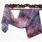 Hand painted Silk Scarves - Pink Agate - Free Shipping - Xmas gift Idea
