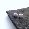 Howlite Gemstone Stud Earrings