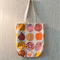Simple Everyday Tote -  Cotton Linen Canvas, Botanical & Fuits Pattern
