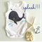 Baby Whale Navy and Silver Onesie Baby Boy Gift All Sizes Available