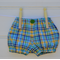 Boys plaid bloomers - handmade nappy cover, navy, green and yellow
