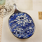 Upcycled/recycled vintage spoon resin pendant necklace, floral porcelain print