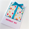 Birthday boy present gift balloons red yellow blue teal friend son him card