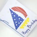 Birthday Card - Sail Boat, Paper piecing