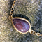 22k gold plated bracelet with purple agate