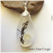 Seaweed and Shell Tear Drop Resin Pendant
