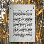 The Southern Highlands of NSW Australia Hand Printed Linen Tea Towel Free Ship