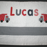 Bath Towel 2-6 Letters Boys Personalised Name