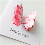 Sweet princess crown triple layer butterfly happy birthday girl her female card