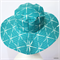 Ladies Teal Dragonfly Sunhat Size 57.5cm
