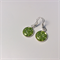 Lime green Venetian millefiori drop earrings