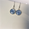 Periwinkle flower Venetian millefiori drop earrings