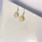 White and yellow daisy Venetian millefiori drop earrings