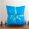 Shine, Sparkle, Shimmer Aqua Cushion Cover with Gold and Silver Star Ribbon