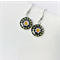 Millefiori earrings - daisies