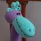 Gwyndolyn: Hand crocheted giraffe: OOAK, Soft, Present, washable
