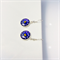 Moon and stars Venetian millefiori drop earrings
