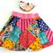 Patchwork Style Skater Skirt BONUS HEADBAND Size 3