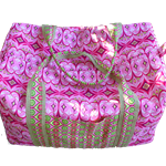 Weekender Travel Duffel Bag - Michael Miller Mezzanine Gothic Arches Pink Fabric