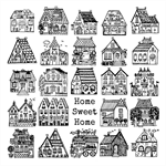 """Home Sweet Home"" Archival Print by Curly Jo Design"