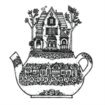"""Teapot Terrace"" Archival Print by Curly Jo Design"