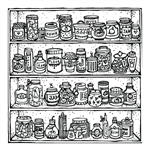 """The Store Cupboard"" Archival Print by Curly Jo Design"