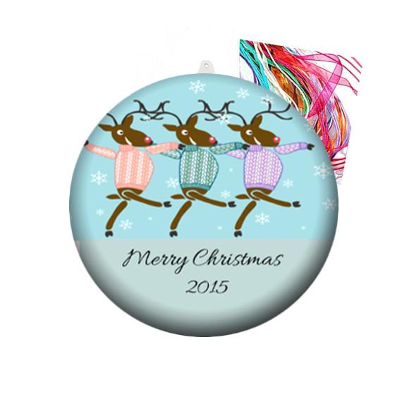 personalised christmas decorations dancing reindeer