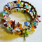 Memory Wire Bangle Multicolour Beads and Stone Chips
