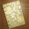 A6 Notebook - Gold Flowers on Pale Blue - 128pp