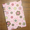 A6 Notebook - Flowers on Pale Pink - 128pp
