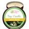 Lemon Myrtle Scented 100% Soy Wax Candle approximately 40 + hours burn time.