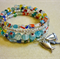 Memory Wire with Multicoloured Millifiore Beads and Seaside Charms