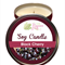 Black Cherry Scented 100% Soy Wax Candle approximately 40 + hours burn time.