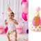 Baby Girl 1st Birthday Party Outfit Party Hat Pink and Gold Stars