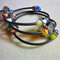 Muticolour Memory Wire Steampunk Style with Millfiore Beads Bangle