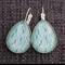 Ripples Blue ~ Teardrop Earrings