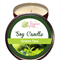Green Tea Scented 100% Soy Wax Candle approximately 40 + hours burn time.