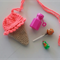 Crochet Ice Cream Purse