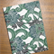 A6 Notebook - Green Floral Design - 128pp