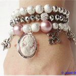 """PRINCESS SYRIANA"" bracelet stack"