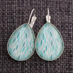 Blue Water ~ Teardrop Earrings