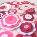 Felt Flower Wall Decorations, Girls Bedroom Decor